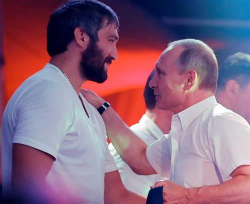 Александр Овечкин и Владимир Путин
