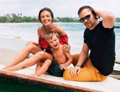 Алексей Чадов, его жена Агния Дитковските и их сын Федор