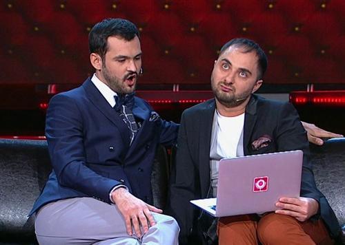 Андрей Скороход и Демис Карибидис на сцене Камеди Клаб