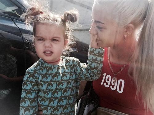 Даша Ролик и её дочка Арина