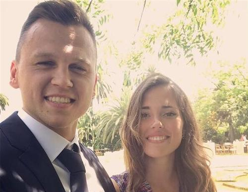 Футболист Денис Черышев и его девушка
