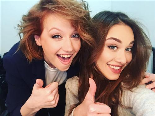 Актрисы Екатерина Шумакова и Юлия Франц сёстры из Универа