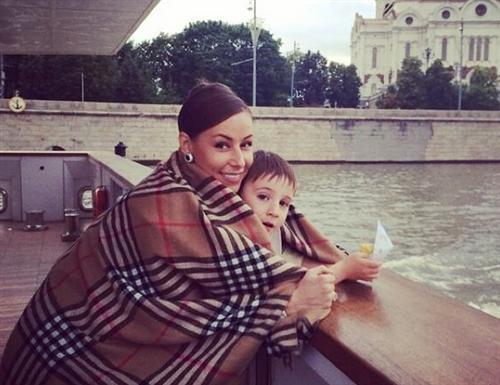 Кристина Кретова с сыном