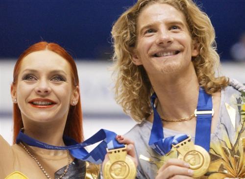 Марина Анисина и Гвендаль Пейзера на Олимпиаде 2002
