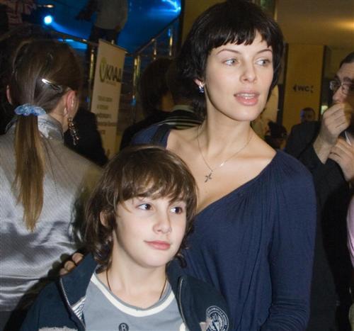 Мария Семкина с сыном Михаилом