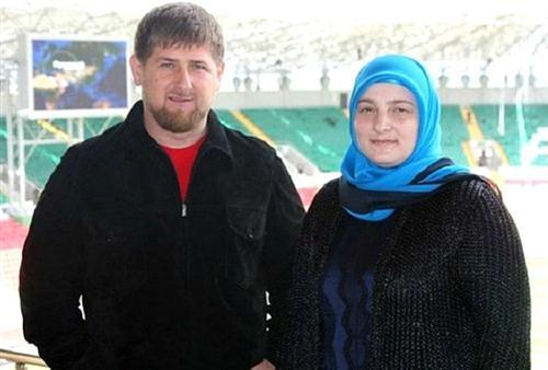 Рамзан Кадыров с женой Медни
