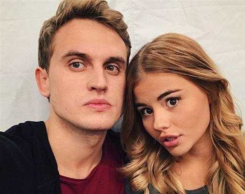 Актёр Владимир Хацкевич и Леля Баранова