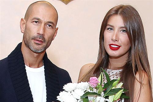 Кэти Топурия с мужем Львом Гейхманом
