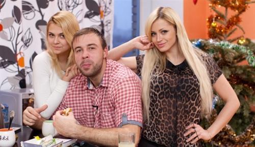 Богдан Ленчук с Аней Кручининой и Дианой Игнатюк