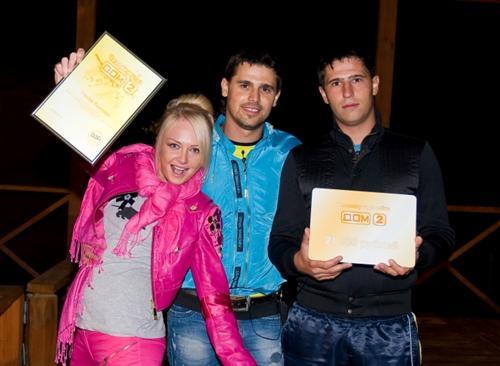 Евгений Пынзарь с братом и его женой Дашей