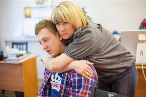 Женя Руднев с мамой Людмилой Валерьевной