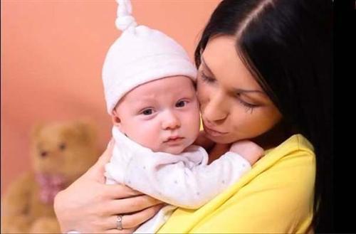 Женя Гусева с сыном Даниэлем