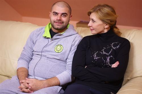 Ирина Александровна Агибалова с зятем Ильей Гажиенко