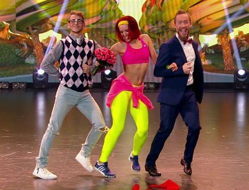 Танец Пены с Димой Олейниковым и Адамом