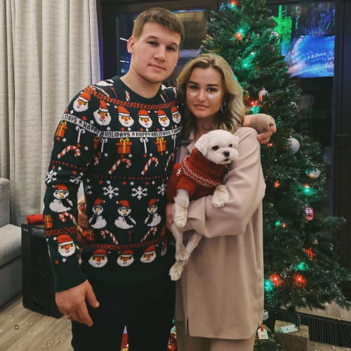 Хоккеист Александр Барабанов и его жена Лера