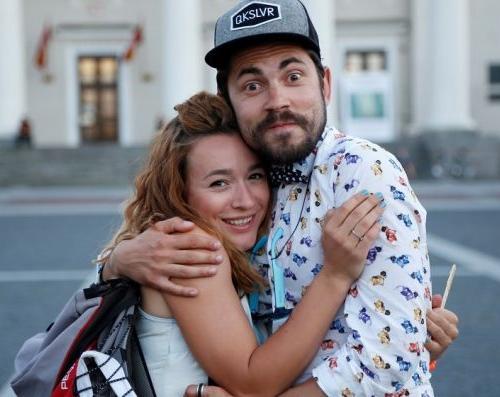 Андрей Бедняков и Настя Короткая (его жена)