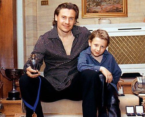 Андрей Канчельскис с отцом