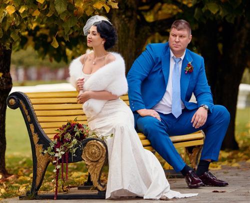 Андрей Свиридов с женой Аполлинарией Бейлик