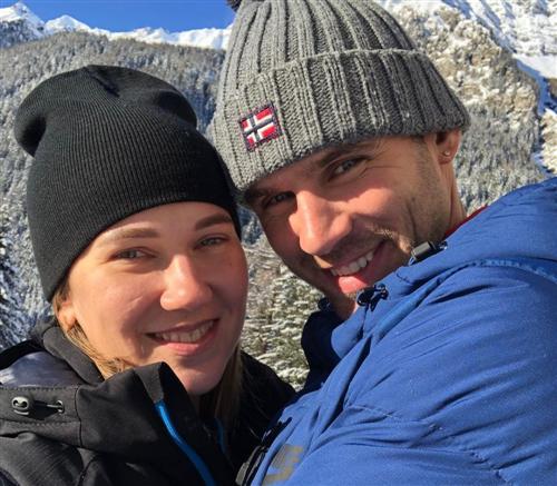 Биатлонистка Анна Сола и Станислав Божков