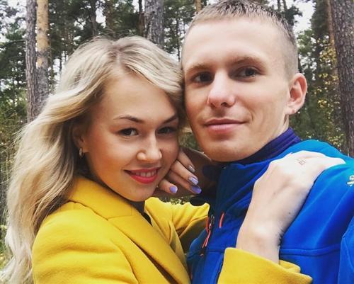 Лыжник Денис Спицов и его девушка Ксения Евлакова