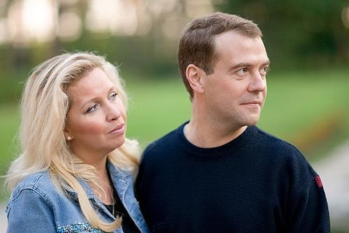 Дмитрий Медведев и его жена Светлана Медведева