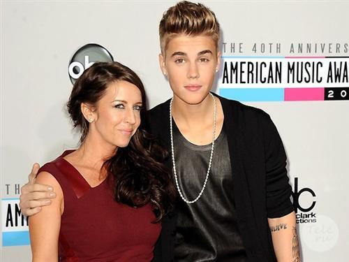 Джастин Бибер и его мама