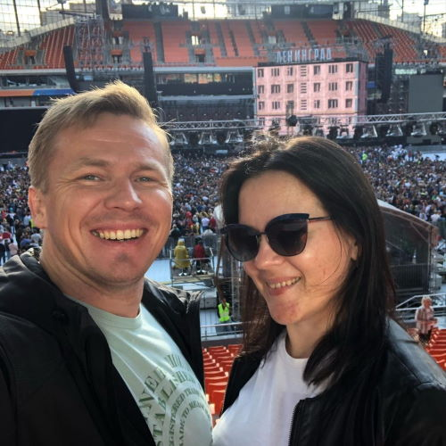 Биатлонист Иван Черезов и его жена Ирина