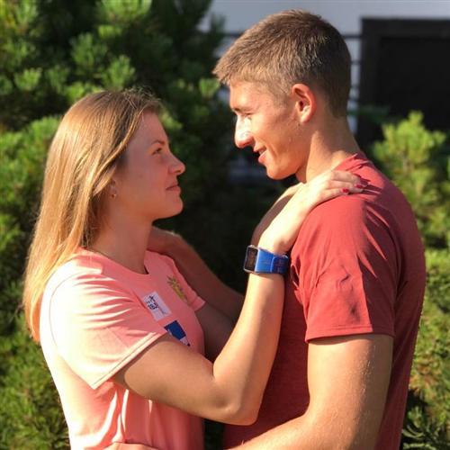 Биатлонист Карим Халили и его девушка Екатерина Бех