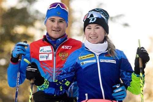 Биатлонист Кирилл Стрельцов и его девушка Динара Алимбекова