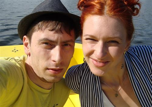 Настя Вядро с мужем Дмитрием