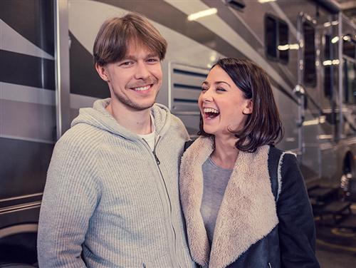 Никита Ефремов и Ингрид Олеринская