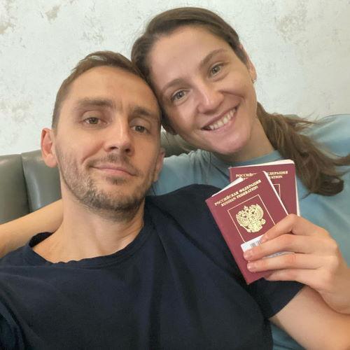 Волейболистка Татьяна Кошелева и ее муж Федор Кузин