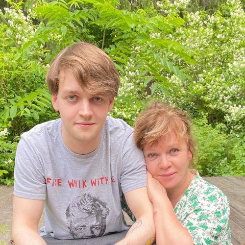 Сын Александра Яцко Василий с мамой Еленой Валюшкиной
