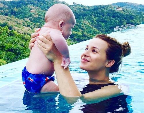 Виктория Кобленко и её сын Кий