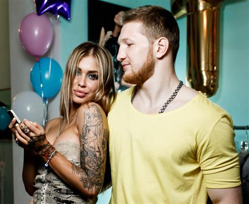 Владимир Минеев и его девушка Карина Тигра
