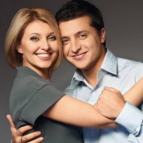 Владимир Зеленский и его жена Елена Кияшко