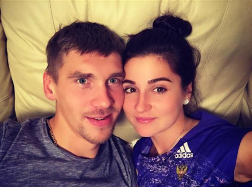 Лыжница Юлия Белорукова и Никита Ступак