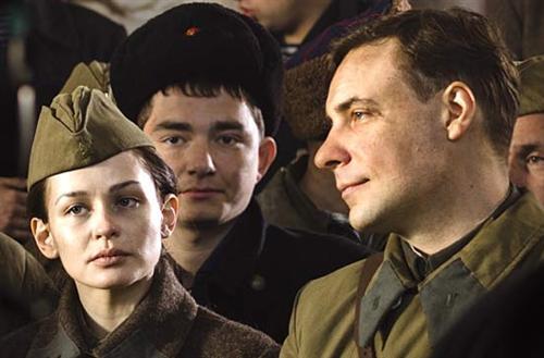 Юлия Пересильд и Евгений Цыганов (Битва за Севастополь)