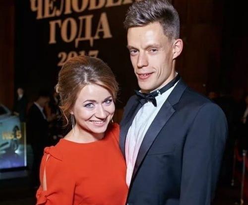 Юрий Дудь и его жена Ольга Дудь